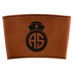 Nurse Leatherette Cup Sleeve (Personalized)