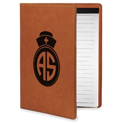 Nurse Leatherette Portfolio with Notepad - Small - Single Sided (Personalized)