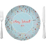 """Nurse Glass Lunch / Dinner Plates 10"""" - Single or Set (Personalized)"""