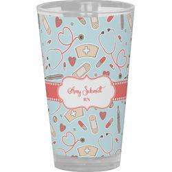 Nurse Drinking / Pint Glass (Personalized)