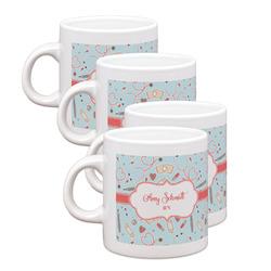 Nurse Espresso Mugs - Set of 4 (Personalized)