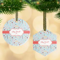 Nurse Flat Glass Ornament w/ Name or Text