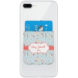 Nurse Genuine Leather Adhesive Phone Wallet (Personalized)