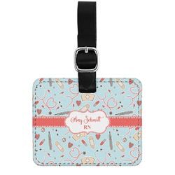 Nurse Genuine Leather Rectangular  Luggage Tag (Personalized)