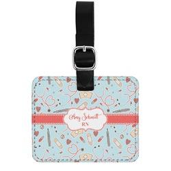 Nurse Genuine Leather Rectangular  Luggage Tag (Personalized)