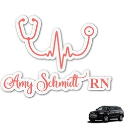Nurse Graphic Car Decal (Personalized)