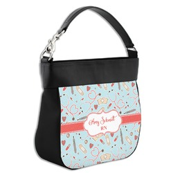 Nurse Hobo Purse w/ Genuine Leather Trim (Personalized)