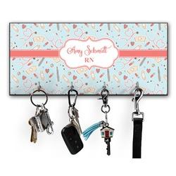 Nurse Key Hanger w/ 4 Hooks w/ Name or Text