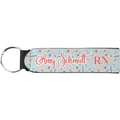 Nurse Neoprene Keychain Fob (Personalized)