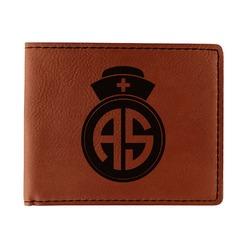 Nurse Leatherette Bifold Wallet - Single Sided (Personalized)