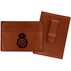 Nurse Leatherette Wallet with Money Clip (Personalized)