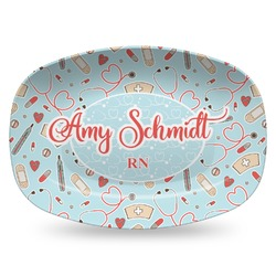Nurse Plastic Platter - Microwave & Oven Safe Composite Polymer (Personalized)