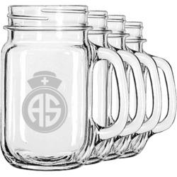 Nurse Mason Jar Mugs (Set of 4) (Personalized)