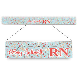 "Nurse Plastic Ruler - 12"" (Personalized)"