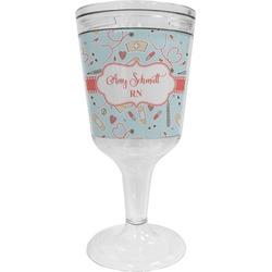 Nurse Wine Tumbler - 11 oz Plastic (Personalized)