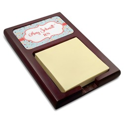 Nurse Red Mahogany Sticky Note Holder (Personalized)