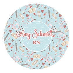Nurse Round Decal (Personalized)