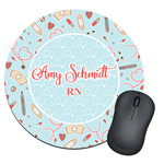 Nurse Round Mouse Pad (Personalized)