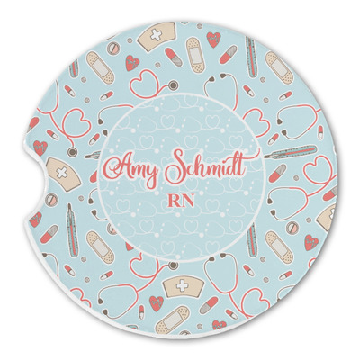 Nurse Sandstone Car Coasters (Personalized)
