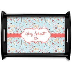 Nurse Black Wooden Tray (Personalized)