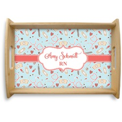 Nurse Natural Wooden Tray - Small (Personalized)