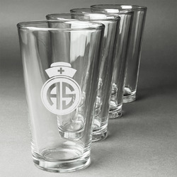 Nurse Beer Glasses (Set of 4) (Personalized)