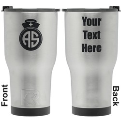 Nurse RTIC Tumbler - Silver - Engraved Front & Back (Personalized)