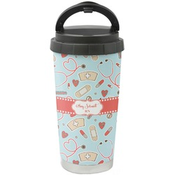 Nurse Stainless Steel Travel Mug (Personalized)