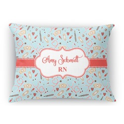 Nurse Rectangular Throw Pillow Case (Personalized)