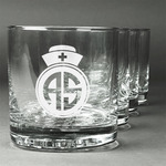 Nurse Whiskey Glasses (Set of 4) (Personalized)