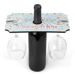 Nurse Wine Bottle & Glass Holder (Personalized)