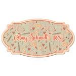 Nurse Genuine Maple or Cherry Wood Sticker (Personalized)