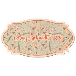 Nurse Genuine Wood Sticker (Personalized)