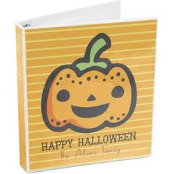 Halloween Pumpkin 3-Ring Binder (Personalized)
