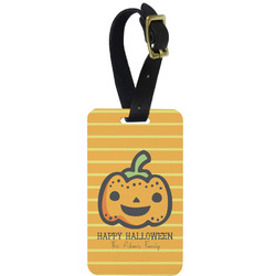 Halloween Pumpkin Aluminum Luggage Tag (Personalized)
