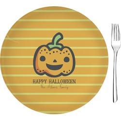 "Halloween Pumpkin 8"" Glass Appetizer / Dessert Plates - Single or Set (Personalized)"