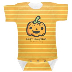 Halloween Pumpkin Baby Bodysuit (Personalized)