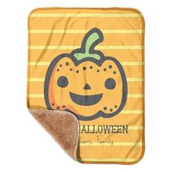 "Halloween Pumpkin Sherpa Baby Blanket 30"" x 40"" (Personalized)"