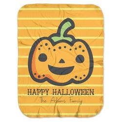 Halloween Pumpkin Baby Swaddling Blanket (Personalized)