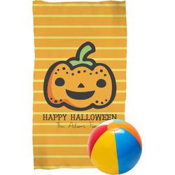 Halloween Pumpkin Beach Towel (Personalized)