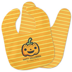 Halloween Pumpkin Baby Bib w/ Name or Text