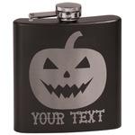 Halloween Pumpkin Black Flask Set (Personalized)