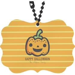 Halloween Pumpkin Rear View Mirror Charm (Personalized)