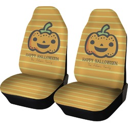 Halloween Pumpkin Car Seat Covers (Set of Two) (Personalized)