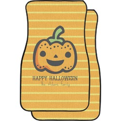 Halloween Pumpkin Car Floor Mats (Front Seat) (Personalized)