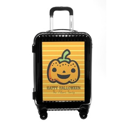 Halloween Pumpkin Carry On Hard Shell Suitcase (Personalized)