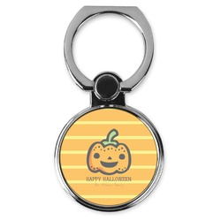 Halloween Pumpkin Cell Phone Ring Stand & Holder (Personalized)