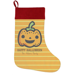 Halloween Pumpkin Holiday Stocking w/ Name or Text