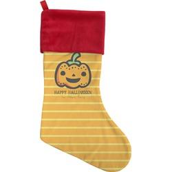 Halloween Pumpkin Christmas Stocking (Personalized)