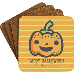 Halloween Pumpkin Coaster Set (Personalized)